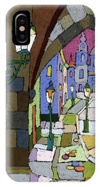 Pastel iPhone Case - Prague Old Street Mostecka by Yuriy Shevchuk