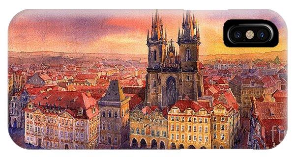 Town iPhone Case - Prague Old Town Square 02 by Yuriy Shevchuk
