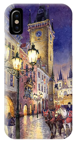 Cityscape iPhone Case - Prague Old Town Square 3 by Yuriy Shevchuk