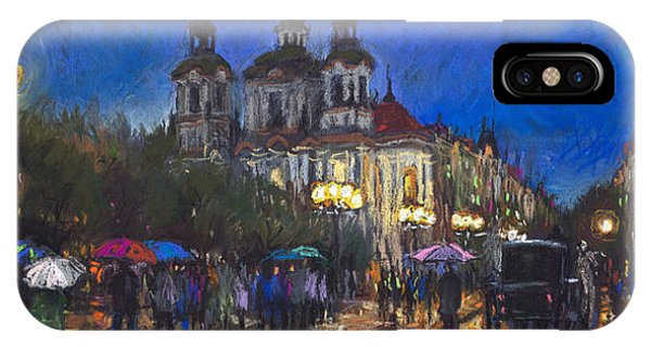 Paper iPhone Case - Prague Old Town Square St Nikolas Ch by Yuriy Shevchuk