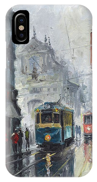 Old Houses iPhone Case - Prague Old Tram 04 by Yuriy Shevchuk