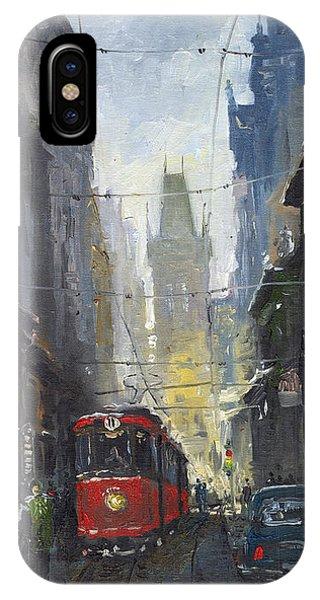 Urban iPhone Case - Prague Old Tram 05 by Yuriy Shevchuk