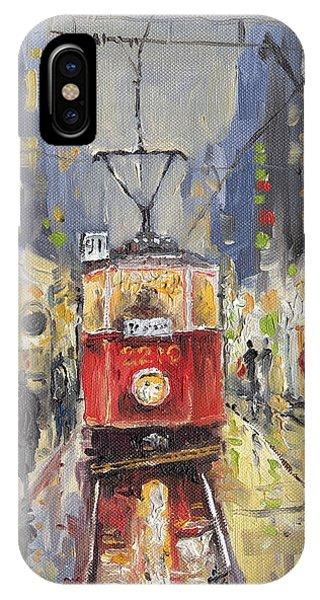 iPhone Case - Prague Old Tram 08 by Yuriy Shevchuk