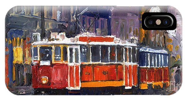 Oil iPhone Case - Prague Old Tram 09 by Yuriy Shevchuk