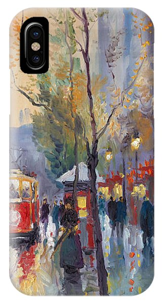 Oil iPhone Case - Prague Old Tram Vaclavske Square by Yuriy Shevchuk