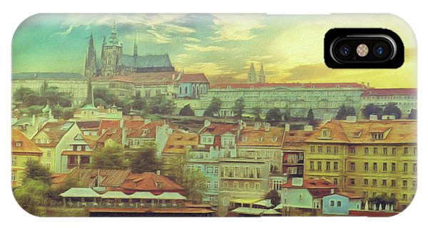 Prague Riverview IPhone Case