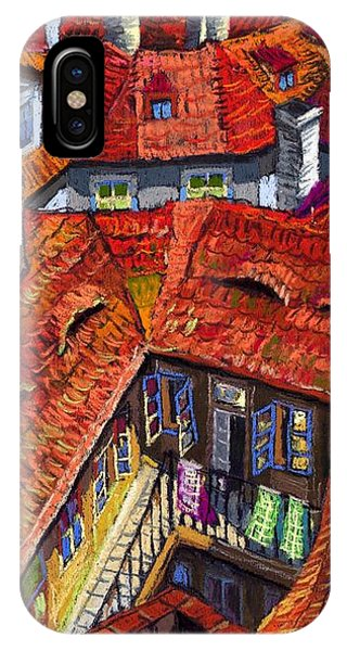 Old Houses iPhone Case - Prague Roofs 01 by Yuriy Shevchuk