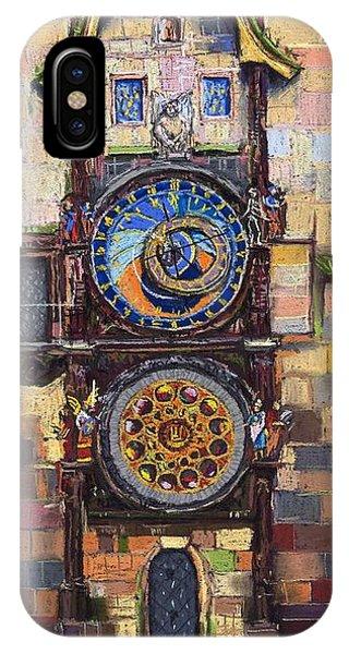 Clock iPhone Case - Prague The Horologue At Oldtownhall by Yuriy Shevchuk
