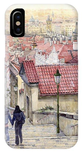 People iPhone Case - Prague Zamecky Schody Castle Steps by Yuriy Shevchuk
