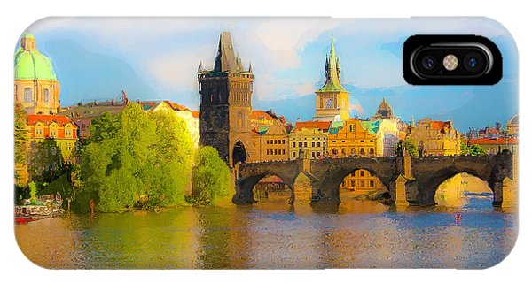 Praha - Prague - Illusions IPhone Case