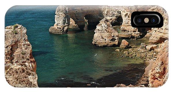Praia Da Marinha Cliffs And Sea IPhone Case