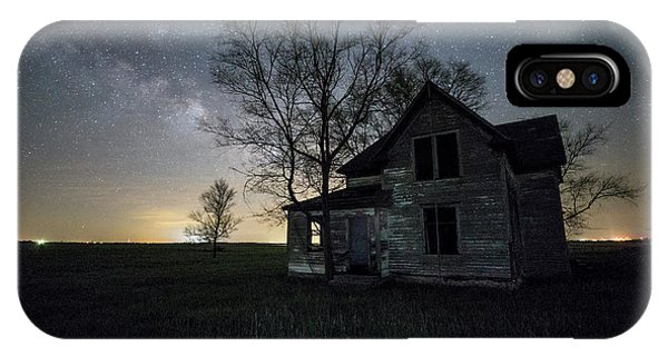 Middle Of Nowhere iPhone Case - Prairie Gold And Milky Way by Aaron J Groen