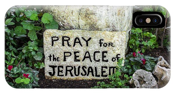 Pray For The Peace Of Jerusalem IPhone Case