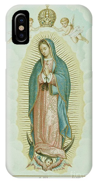 Prayer Card Depicting Our Lady Of Guadalupe IPhone Case