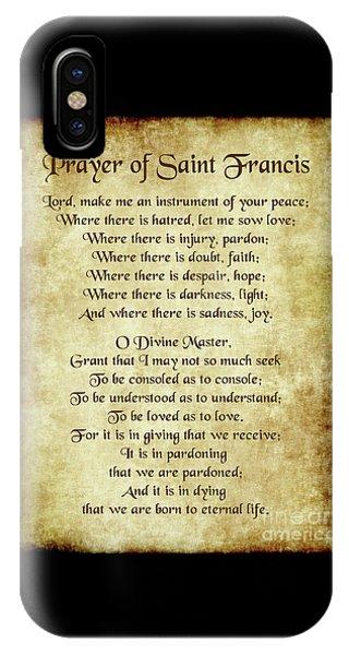 Prayer Of St Francis - Antique Parchment IPhone Case