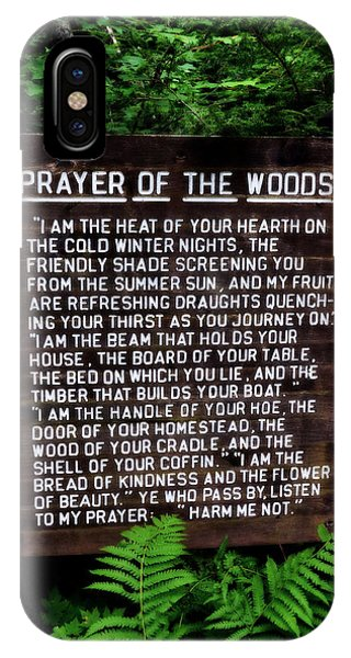 Prayer Of The Woods IPhone Case