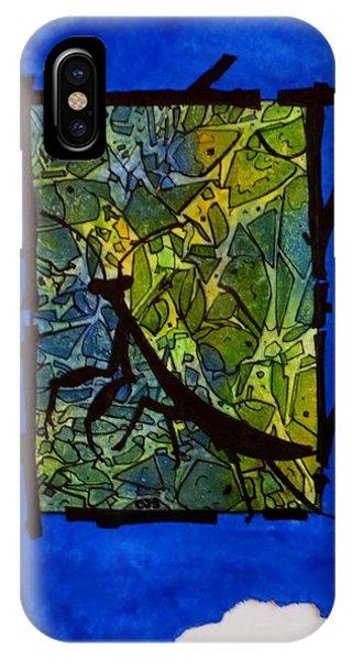Praying Mantis Silhouette IPhone Case