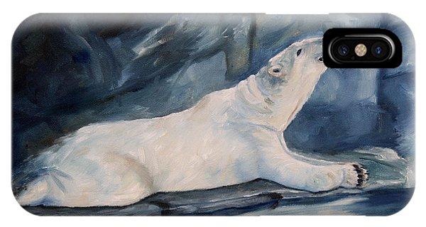 Praying Polar Bear Original Oil Painting IPhone Case