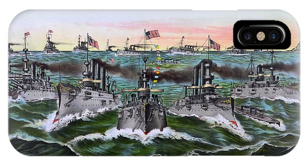 Pre-dreadnought Battleships Of The United States 1896 IPhone Case