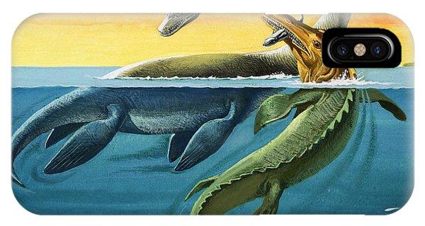 Prehistoric Creatures In The Ocean IPhone Case