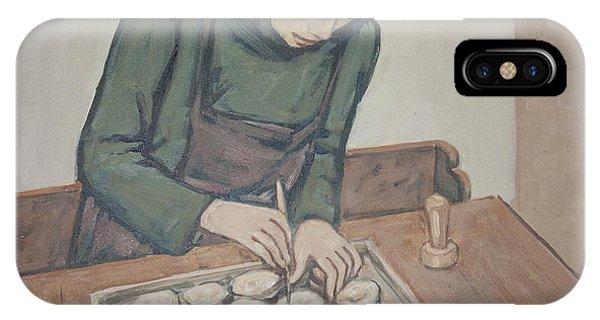 Preparing Communion Bread IPhone Case
