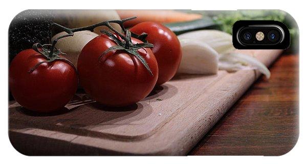 Preparing Vegetables For Cooking Food IPhone Case