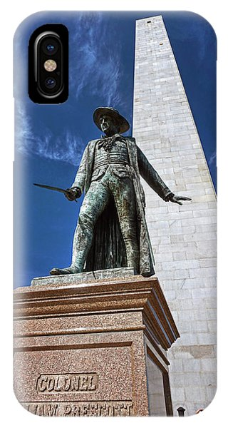 Prescott Statue On Bunker Hill IPhone Case
