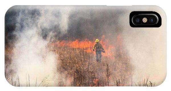 Prescribed Burn 2 - Uw Arboretum - Madison - Wisconsin IPhone Case