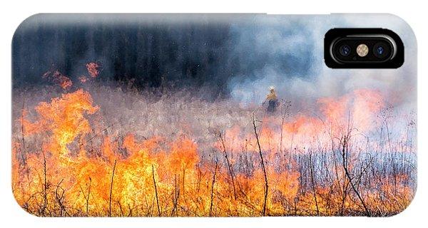 Prescribed Burn - Uw Arboretum - Madison - Wisconsin IPhone Case