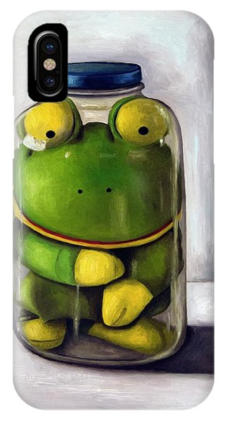 Frogs iPhone Case - Preserving Childhood by Leah Saulnier The Painting Maniac