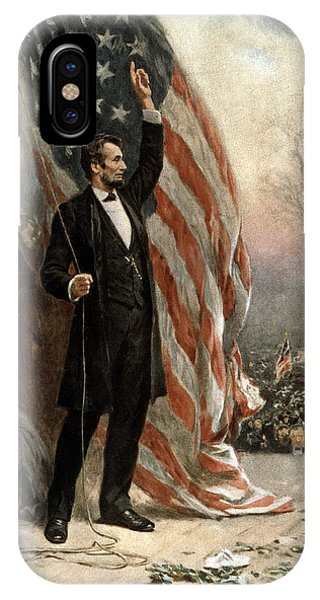 President Abraham Lincoln - American Flag IPhone Case