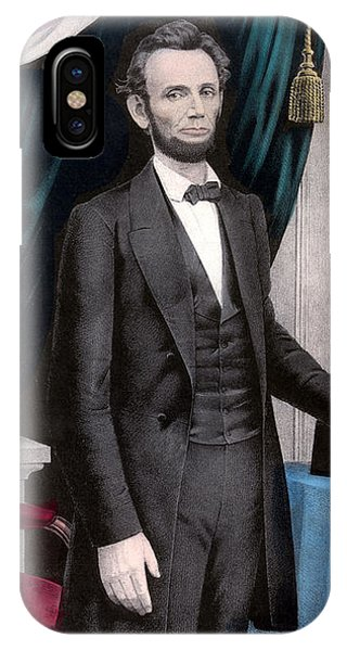 Abraham Lincoln iPhone Case - President Abraham Lincoln In Color by War Is Hell Store