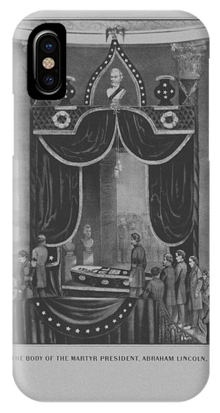 United States Presidents iPhone Case - President Abraham Lincoln Lying In State by War Is Hell Store