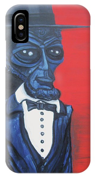 President Alienham Lincoln IPhone Case