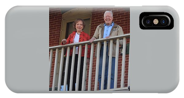 President And Mrs Carter On Plains Inn Balcony IPhone Case