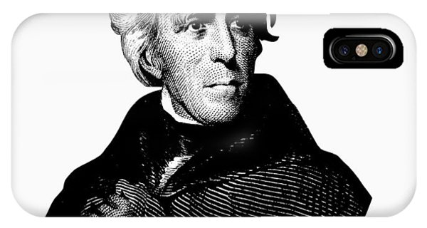 Andrew iPhone Case - President Andrew Jackson Graphic Black And White by War Is Hell Store