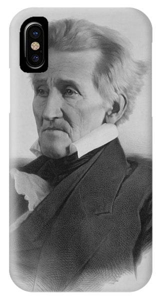 United States Presidents iPhone Case - President Andrew Jackson - Three by War Is Hell Store