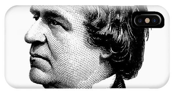 Andrew iPhone Case - President Andrew Johnson Graphic - Black And White by War Is Hell Store