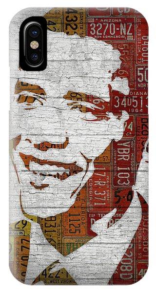 President Barack Obama Portrait United States License Plates IPhone Case