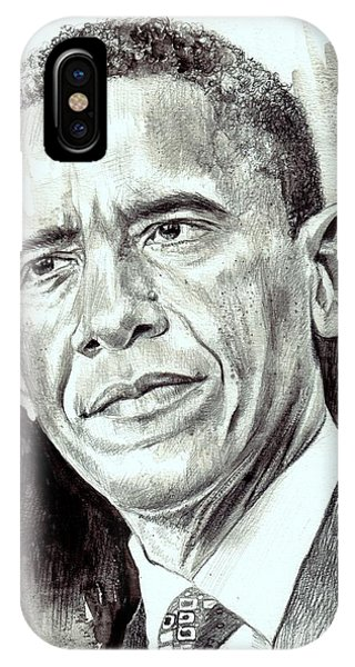 Barack Obama iPhone Case - President Barack Obama by Suzann's Art