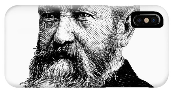 Harrison iPhone Case - President Benjamin Harrison Graphic - Black And White by War Is Hell Store