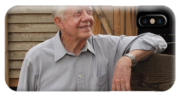 President Carter At His Boyhood Farm IPhone Case