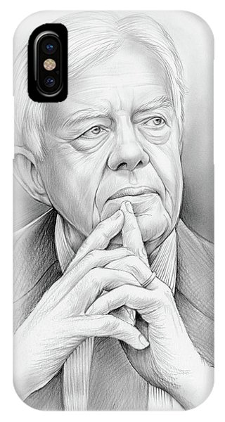 United States Presidents iPhone Case - President Carter by Greg Joens