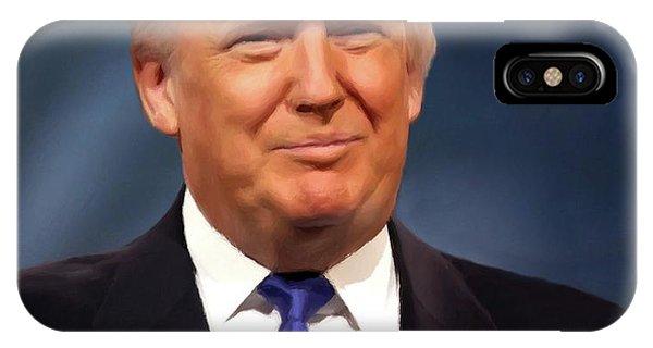 President Donald John Trump Portrait IPhone Case