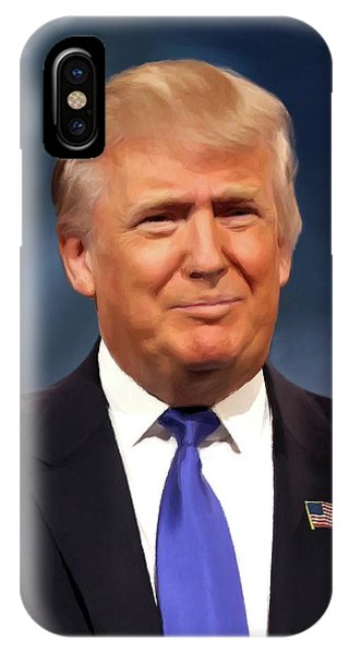 President Donald John Trump Portrait IPhone Case