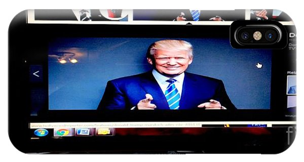 President Elect Donald J. Trump Two Guns Blazing IPhone Case