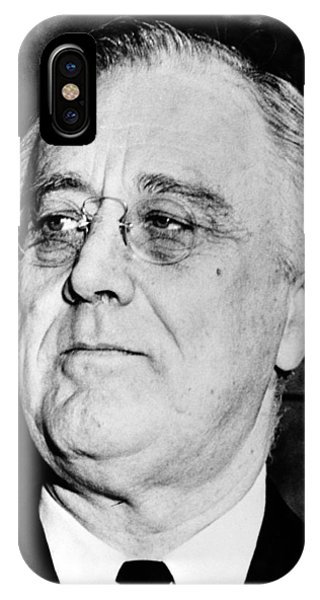 Leader iPhone Case - President Franklin Delano Roosevelt by War Is Hell Store