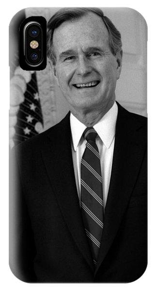 President George Bush Sr IPhone Case