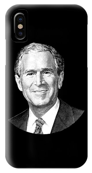 George Bush iPhone Case - President George W. Bush Graphic by War Is Hell Store