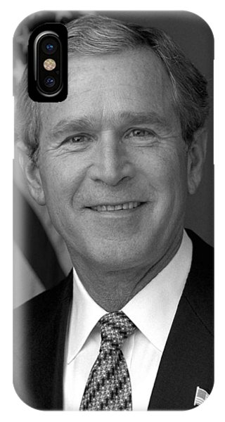 George Bush iPhone Case - President George W. Bush by War Is Hell Store